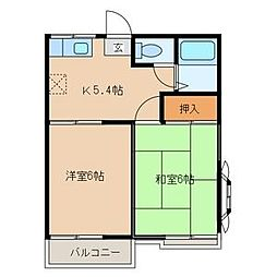 ファミーユ台田[2階]の間取り