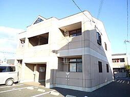 岐阜県美濃加茂市下米田町東栃井の賃貸アパートの外観