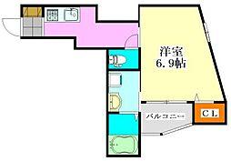 サンハイム[301号室]の間取り