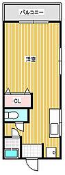 愛梨ビル弐番館[4階]の間取り