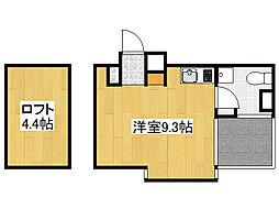 ZEQUE NAMBA NISHI[9階]の間取り
