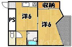 プリモレガーロ香春口[4階]の間取り
