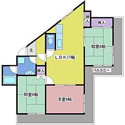 メゾン・ド・由多賀[2階]の間取り