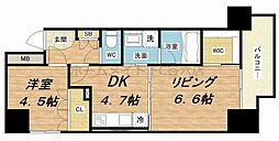 ゼウス西梅田プレミアム[7階]の間取り