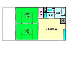 美野島ビル[4階]の間取り