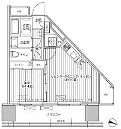 都営新宿線 市ヶ谷駅 徒歩3分の賃貸マンション 7階1LDKの間取り