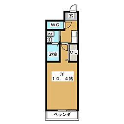 クレストV[1階]の間取り