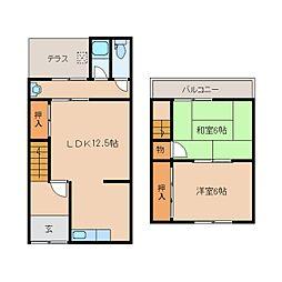 [テラスハウス] 奈良県橿原市石原田町 の賃貸【/】の間取り