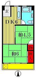 青戸ガーデンハイム[2階]の間取り