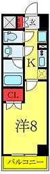 (仮称)レオーネ高島平 8階1Kの間取り
