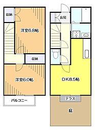 [テラスハウス] 東京都東大和市奈良橋6丁目 の賃貸【東京都 / 東大和市】の間取り