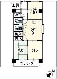 メゾン島田[3階]の間取り