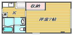 埼玉県さいたま市浦和区領家5丁目の賃貸マンションの間取り