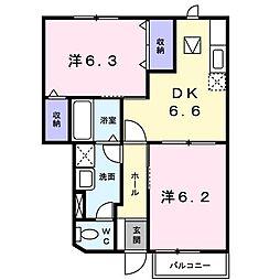 ニュークレストールT・DII[102号室]の間取り