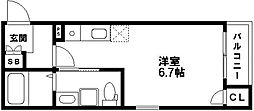 ライフ荒江[3階]の間取り