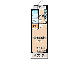 京都府京都市伏見区山崎町の賃貸マンションの間取り