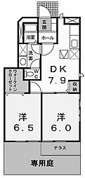 コートヤードB[1階]の間取り