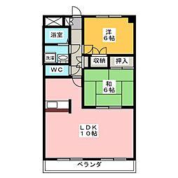 愛知県名古屋市千種区東明町1丁目の賃貸マンションの間取り