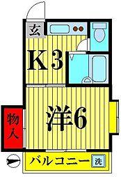 東京都足立区関原3丁目の賃貸マンションの間取り