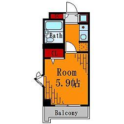 J-フラッツ錦糸町[6階]の間取り