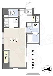 Lui Chance3 4階ワンルームの間取り
