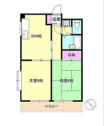 東京都八王子市千人町2丁目の賃貸マンションの間取り