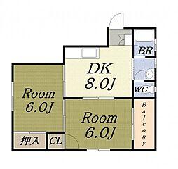 西尾マンション[3階]の間取り