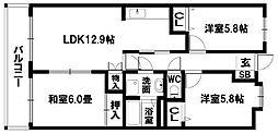 長丘パークハイム[402号室]の間取り