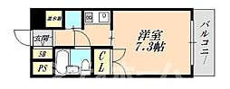 大阪府大阪市北区天神橋7丁目の賃貸マンションの間取り