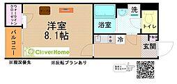 小田急小田原線 本厚木駅 バス13分 子中下車 徒歩4分の賃貸アパート 2階1Kの間取り