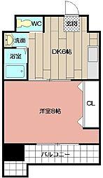 コンダクト小倉№1[802号室]の間取り