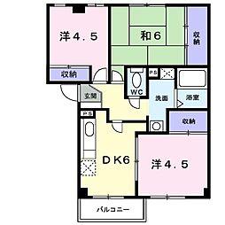 メゾンコジマB[0304号室]の間取り