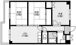 大阪府豊中市北条町1丁目の賃貸マンションの間取り