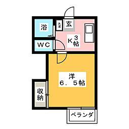 第一MHハウスA棟[1階]の間取り