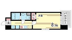 兵庫県神戸市中央区御幸通3丁目の賃貸マンションの間取り