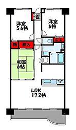 コアマンションルネス空港東[7階]の間取り