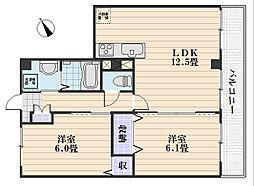 フォブール相田[3階]の間取り