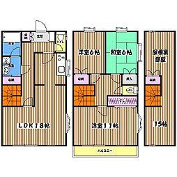 [テラスハウス] 東京都立川市栄町4丁目 の賃貸【/】の間取り