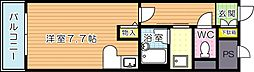 福岡県北九州市八幡西区藤田2丁目の賃貸マンションの間取り