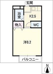 フォルサ茶屋ヶ坂[2階]の間取り