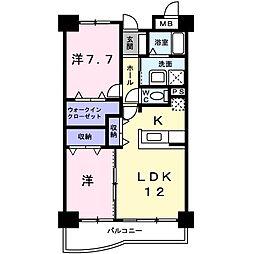 ラフレシールA[3階]の間取り