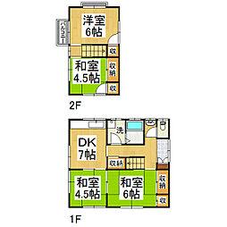 [テラスハウス] 長野県松本市筑摩 の賃貸【/】の間取り