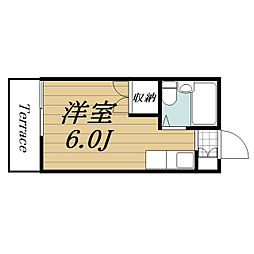 千葉県印西市平賀の賃貸アパートの間取り