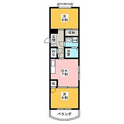 アーバン寺塚[1階]の間取り