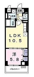 神奈川県藤沢市遠藤の賃貸マンションの間取り