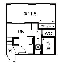 北海道札幌市北区北三十七条西7丁目の賃貸マンションの間取り