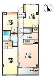 フレアマンション2[301号室]の間取り