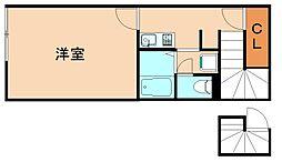 レオネクストTOBAII[2階]の間取り