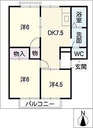 グリーンハイツKESHIKAWA[2階]の間取り