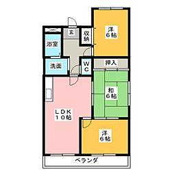 ファミールSII[2階]の間取り